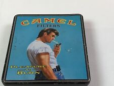 Vintage Camel Filters Pleasure To Burn Cigarette Tin