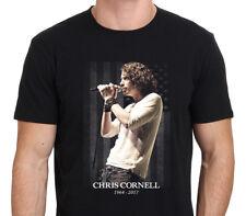 Chris Cornell Tribute American Rock Legend Gildan Men's Black T-shirt Size S-XXL