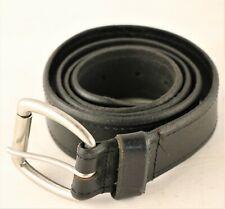 Unbranded Black Leather Belt Unisex Size 38