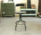 Antique Industrial Vtg DoMore Machine Age Drafting Stool Chair Factory 1920s