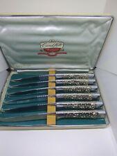 Vintage Carvel Hall Steak Knives & Forks cutlery by Briddell Set of 6 each