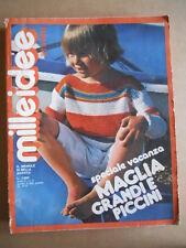 MILLEIDEE n°8 1978 - rivista di moda e lavori femminili  [C53]