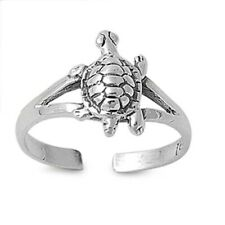 mm Genuine Sterling Silver 925 Jewelry Turtle Design Toe Ring Face Height 10