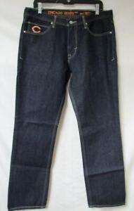 """Chicago Bears Mens Size 34x34 """"Established in 1920"""" Denim Jeans JJ 27"""