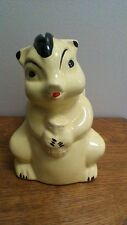 Pearl China Co. Yellow Squirrel Piggy Bank