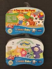 VSmile Baby VTECH Game Infant Development System A Day On The Farm/Teletubbies