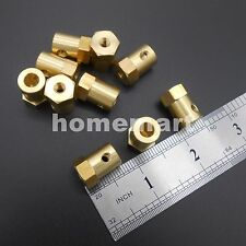 10PCS 6mm Shaft Motor Flexible HEX Coupling Coupler for Wheel tyre + 4 spanners