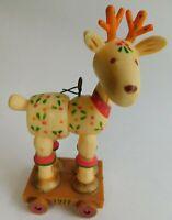 Vintage Hallmark Cards Plastic Reindeer Christmas Ornament 1977