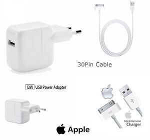 Alimentatore Originale Apple Caricabatteria A1401 Cavo Per iPhone iPad iPod