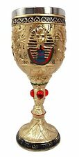 Egyptian Collectible Pharaoh King Tut Image of Amun 6oz Wine Goblet Chalice Cup