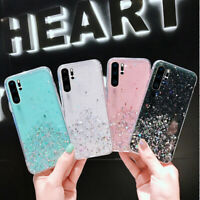 For Huawei Mate 30 20 Pro P30 P20 Lite Glitter Clear Soft Rubber TPU Case Cover