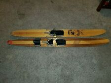 """Vintage Wooden 67"""" Long Water Skis Challenger and other"""