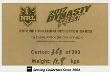 FACTORY CASE-- Select 2012 NRL DYNASTY CARDS FACTORY CASE (12 Boxes)--HOT!