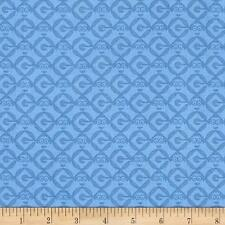 Despicable Me 1 in A Minion Set Geo Blender Blue 100% Cotton Fabric by the yard