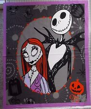 "Nightmare Before Christmas Fabric Panel Jack Skellington Sally Cotton 36"" x 44"""