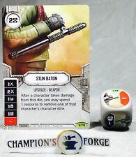 Star Wars Destiny Legacies Set Stun Baton #74 Rare w/ Premium Die
