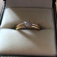 18ct gold diamond ring size k