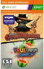 THE GUNSTRINGER & FRUIT NINJA MICROSOFT XBOX 360 / ONE, 2011 DOWNLOAD KINECT NEW