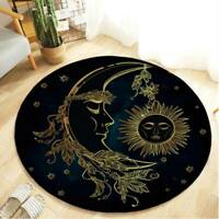 Round Floor Mat Earth Part Scene Bedroom Carpet Non-slip Living Room Area Rugs
