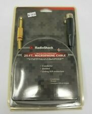 """RadioShack 25ft XLR-to-1/4"""" Microphone Cable 24K Gold Connectors Shield"""