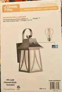 2 (set) Cloudy Bay Outdoor Wall Lantern with Dusk to Dawn Photocell Sensor LED