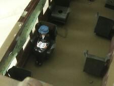 Seated Woman train passenger reading, Lionel Parlor Car, Reproduction Johillco