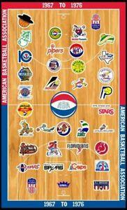ABA TEAM LOGOS 8X10 PHOTO BASKETBALL PICTURE
