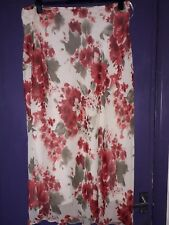 ANN HARVEY FLOWER PRINT BIAS CUT SKIRT SIZE 22