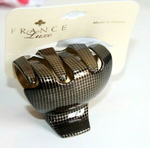 France Luxe Large Couture Jaw Hair Clip  Large size Women's OS 081821
