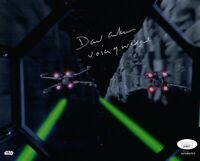 DAVID ANKRUM Signed VOICE OF WEDGE STAR WARS 8x10 TOPPS Photo Autograph JSA COA