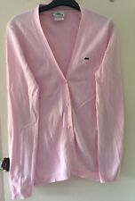 Ladies Pink Lacoste Cardigan