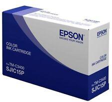 Epson SJIC15P 3 Colores pigmento Cartucho de Tinta (cian, magenta, Amarillo) DE