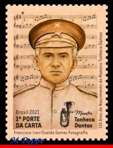 21-05 BRAZIL 2021 CONDUCTOR TONHECA DANTAS, MUSIC, MUSICAL INSTRUMENT, MNH