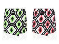 Women Ladies Neon Skirt Shorts Plain Mini Wrap Skort Irregular Flanging Culottes