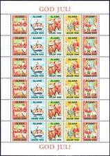 Santa Claus Christmas Sheet Aland Island Finland Mint MNH Sheet 1996