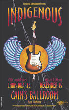 INDIGENOUS CHRIS DUARTE Original Tulsa Cain's Ballroom Concert Poster Signed