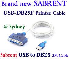 Sabrent USB 2.0 to DB25F Parallel PRINTER Cable 2M USB-DB25F Windows  Mac