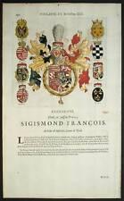 SIGISMOND FRANCOIS ARCHIDUC D AUTRICHE Héraldisme 1667