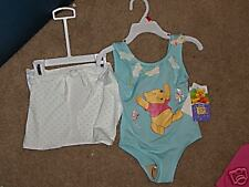 NWT- Pooh turquise & white swimsuit & coverup - 24mos