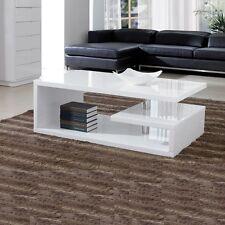 Elegance Designer Square Coffee Table White High Gloss Finish