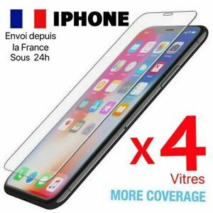 Verre Trempé Vitre Protection Ecran Film iPhone 8 7 6 5 XR X XS 11 12 PRO MAX SE