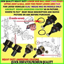 X6 FOR RENAULT CLIO 197 200 MEGANE SPORT MK3 RS HUB ARM UPP/LOW BALL JOINT PIVOT