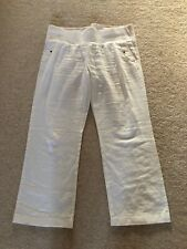 Maternity White Linen Trousers George Petite Size 10