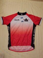 NEW American Diabetes Primal Red Rider Sport Cut Raglon Bicycling Jersey Mens XL