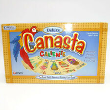 Official DELUXE CANASTA CALIENTE Rummy Card Game Rotating Tray New Open Box