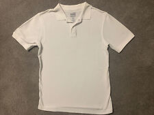 Old Navy Boys Kids White Uniform Polo Shirt Top Size Large 10-12