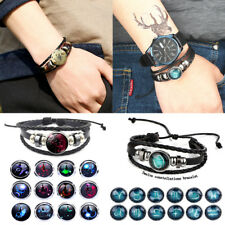 New Trendy Bracelet Galaxy Constellation Design12 Astrology Bangle For Woman Men