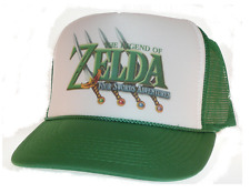 Vintage Zelda hat Trucker Hat Mesh Hat four swords green nintendo