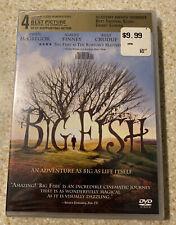 Big Fish (Dvd, 2003) Jessica Lange, Ewan McGregor, Tim Burton Sealed