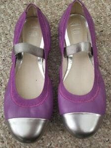 CLARKS Purple Mary Jane Style Ballet Flats Youth Girls Size 1.5